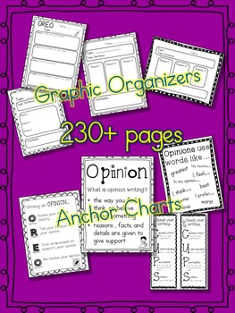 Opinion Paragraph Writing Unit All Year K-3  230+ pages