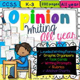 Opinion Paragraph Writing Unit All Year K-3