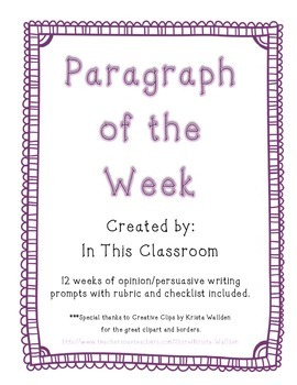 Opinion Paragraph of the Week