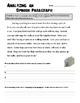 Beginning Opinion Paragraphs Packet