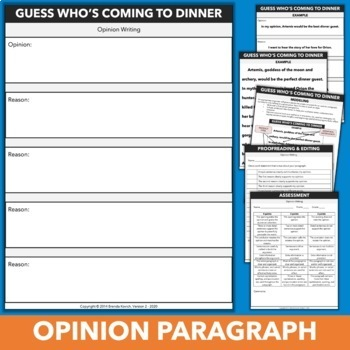 Opinion & Persuasive Paragraphs Featuring Characters from Myths