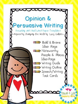 Writing Paper, Opinion Persuasive 3rd-4th (Lucy Calkins inspired)