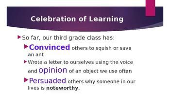 Opinion/ Persuasive Writing - Bend 2
