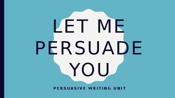 Opinion/ Persuasive Writing - Lucy Calkins Bend 1