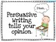 Opinion/Persuasive Writing Power Point