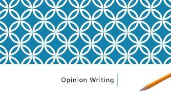 Opinion / Persuasive Writing PowerPoint