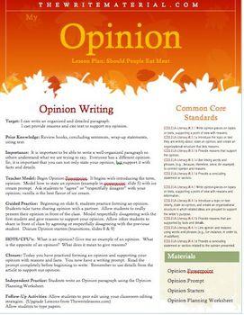 Opinion Persuasive Writing Prompt Reading Stimulus Common Core PARCC aligned