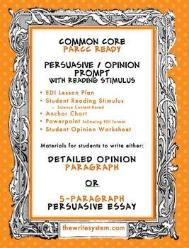 Opinion Persuasive Writing Prompt Reading Stimulus Common