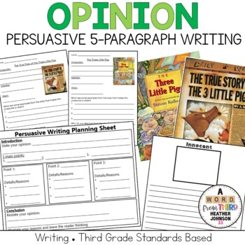 Opinion Persuasive Writing: The Three Little Pigs vs The Wolf: Point of View