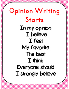 Opinion & Persuasive Writing Unit (Common Core Aligned)