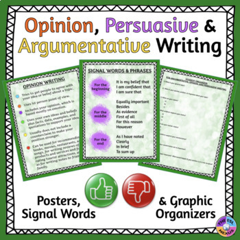 Opinion Writing, Persuasive Writing, and Argumentative Writing Resources