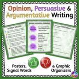 Opinion Writing, Persuasive Writing, and Argumentative Wri