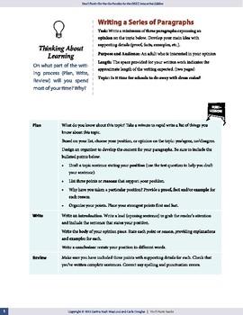 Opinion Piece (Series of paragraphs) — OSSLT Prep — print