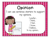 Opinion Poster (Sentence Starters)