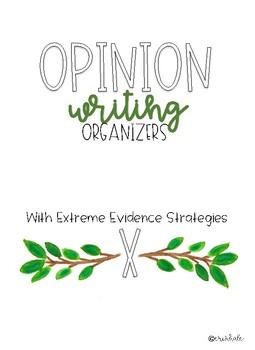 Opinion Pre-Writing Organizers