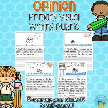 Opinion Primary Visual Writing Rubric {Persuasive}