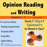 Opinion Writing and Opinion Reading - Fidget Spinners in t