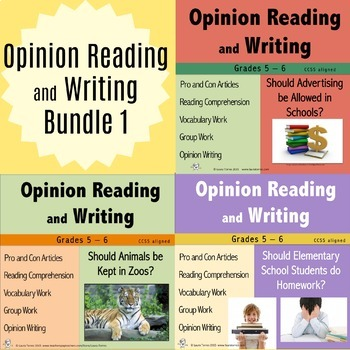 Opinion Writing and Opinion Reading Bundle 1
