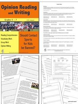 Opinion Writing and Opinion Reading Bundle 3
