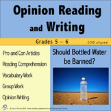 Opinion Writing and Opinion Reading - Should Bottled Water be Banned?