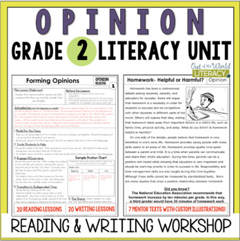 Opinion Writing and Reading Grade 2