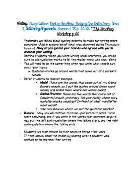 Opinion & Review Writing Bundle with Lucy Calkins