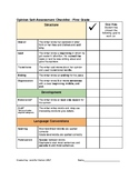 Opinion Self Assessment Checklist and Goal Setting, Grade 1