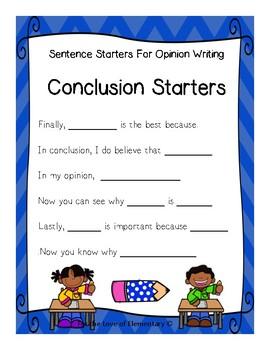 Opinion Sentence Starters