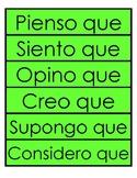 Opinion Sentence Starters in Spanish