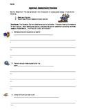 Opinion Statement Worksheet