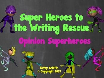 Opinion Superheroes Mini Video Fun for Writing
