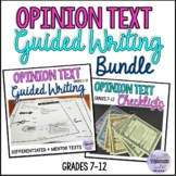 BUNDLE Opinion Text Guided Writing with Checklists ESL/ELA