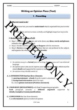 Opinion Text Writing Guidelines