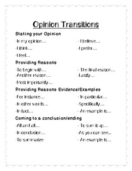 Opinion Transitions