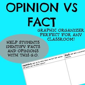 Primary Source Analysis: Opinion Vs. Fact Graphic Organizer