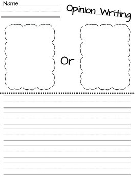 Kindergarten Opinion Writing Worksheets