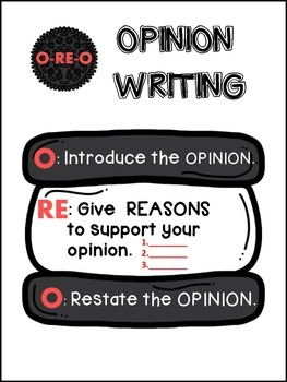 Oreo Opinion Writing Pack