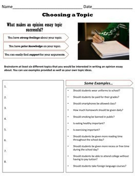 Opinion Writing Unit Step-By-Step