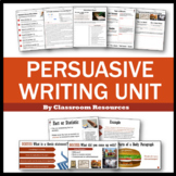 Persuasive Writing Unit Step By Step