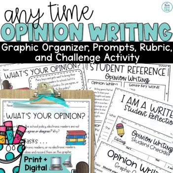 Opinion Writing Prompts and Activities