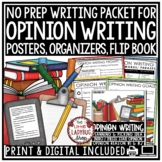 Opinion Writing Unit - 3rd Grade, 4th Grade Opinion Writing Graphic Organizers