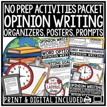 Opinion Writing Unit - 3rd Grade, 4th Grade Opinion Writing Graphic Organizers