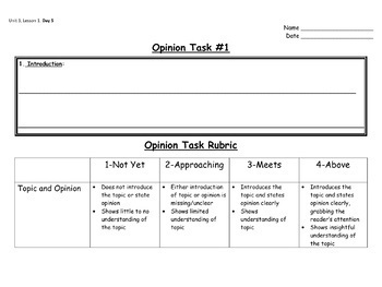 Second Grade Opinion Writing Unit (EDITABLE!)