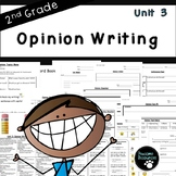 Second Grade Opinion Writing Unit (EDITABLE!, Standards Aligned)