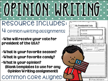 Opinion Writing- 4 Different Writing Activities-  Election