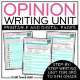 Opinion Writing Unit   Digital Pages to use with Google   Distance Learning