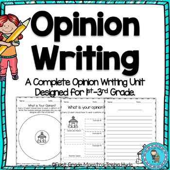 Opinion Writing For Kindergarten and First Grade
