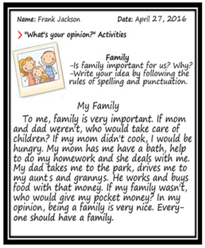Opinion Writing Exercises (What's Your Opinion?)