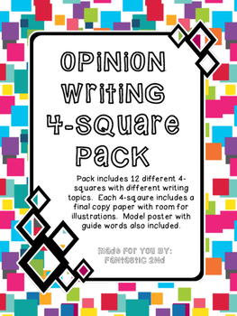 Opinion Writing 4-Square Pack