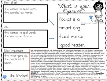 Opinion Writing: A Response To Literature Unit How Rocket Learned to Read